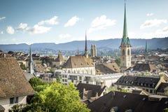 Gammal stad av Zurich Arkivfoto