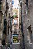 Gammal stad, Barcelona Arkivfoton