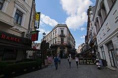 Gammal stad - Bucharest - Rumänien Royaltyfri Bild