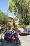 Gammal stad Chania för gata Arkivbild