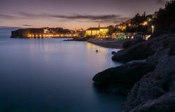 Gammal stad Dubrovnik som aftonslut in Royaltyfri Fotografi