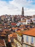 Gammal stad för flyg- sikt av Porto portugal Royaltyfri Fotografi