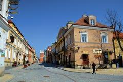 GAMMAL STAD FÖR SANDOMIERZ, POLEN - APRIL 10, 2015: Sandomierz som är gammal till Royaltyfria Foton