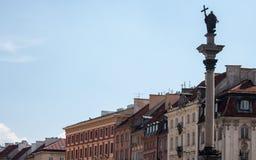 Gammal stad för Warszawa i Polen royaltyfri bild