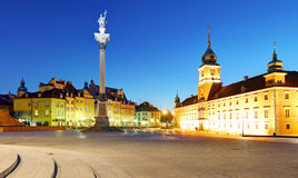 Gammal stad för Warszawa, Plaz Zamkowy, Polen, ingen Arkivbild