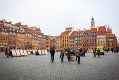 Gammal stad för Warszawa, Polen Arkivbild