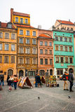 Gammal stad för Warszawa, Polen Arkivbilder