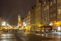 Gammal stad gdansk Arkivfoto