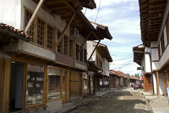 Gammal stad, Gjakova, Kosovo arkivbild
