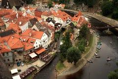 Gammal stad i Cesky Krumlov, Tjeckien, Czechia, arv Royaltyfri Foto