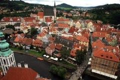 Gammal stad i Cesky Krumlov, Tjeckien, Czechia, arv Royaltyfri Bild