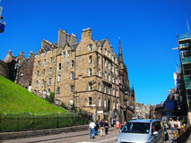 Gammal stad i edinburgh, Skottland Arkivbilder