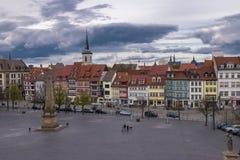 Gammal stad i Erfurt, Tyskland Royaltyfri Fotografi