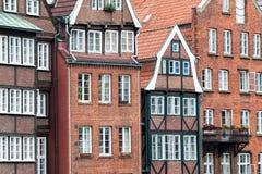 Gammal stad i Hamburg royaltyfri foto
