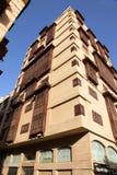 Gammal stad i Jeddah, Saudiarabien som är bekant som historisk Jeddah för ` `, Gamla och arvbyggnader och vägar i Jeddah Saudiara royaltyfria foton