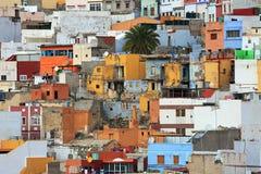 Gammal stad i Las Palmas de Gran Canaria arkivbilder