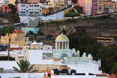 Gammal stad i Las Palmas de Gran Canaria arkivfoton
