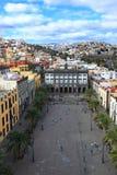 Gammal stad i Las Palmas de Gran Canaria fotografering för bildbyråer