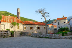 Gammal stad i morgon, Budva, Montenegro Royaltyfria Foton