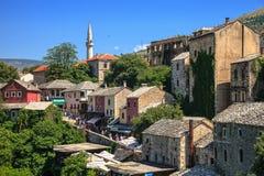 Gammal stad i Mostar Royaltyfri Fotografi