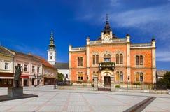 Gammal stad i Novi Sad - Serbien Arkivfoto