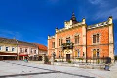 Gammal stad i Novi Sad - Serbien Arkivfoton