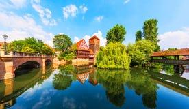 Gammal stad i Nuremberg, Tyskland Royaltyfri Fotografi