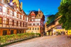 Gammal stad i Nuremberg, Tyskland arkivbilder