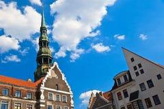 Gammal stad i Riga, Lettland Royaltyfria Foton