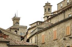 Gammal stad i San Marino Royaltyfri Foto