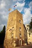 Gammal stad i stad av Grasse Arkivbild