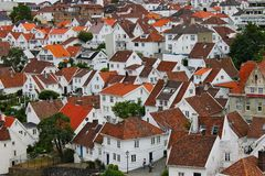 Gammal stad i Stavanger, Norge royaltyfri fotografi