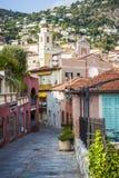 Gammal stad i Villefranche-sur-Mer arkivfoton