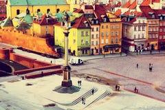 Gammal stad i Warszawa Fotografering för Bildbyråer