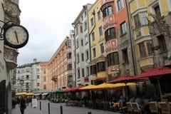Gammal stad Innsbruck, Österrike arkivbild