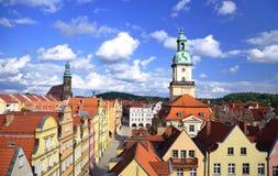 Gammal stad Jelenia Gora, Polen, Europa royaltyfria foton