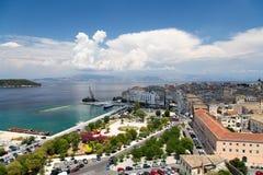 Gammal stad Korfu Arkivbilder