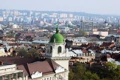 Gammal stad Lviv arkivfoto