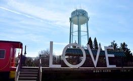 Gammal stad Manassas, Virginia, USA arkivbilder