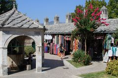 Gammal stad Mostar Arkivfoton