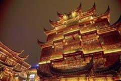 Gammal stad, Nanshi, Shanghai, Kina Arkivbild
