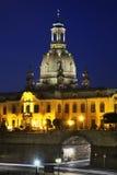 Gammal stad och Frauenkirche i Dresden germany Arkivbild