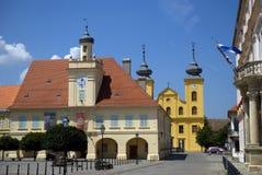 Gammal stad, Osijek, Kroatien Arkivbild