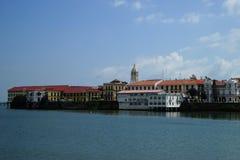Gammal stad Panama - sikt från vatten Royaltyfria Bilder