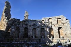 Gammal stad Perga, Turkiet Fotografering för Bildbyråer