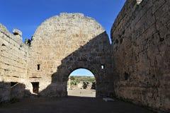 Gammal stad Perga, Turkiet Arkivbilder