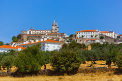 Gammal stad Portalegre i Portugal Arkivfoton