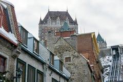 Gammal stad - Quebec City, Kanada Arkivbild