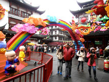 Gammal stad Shanghai Royaltyfri Bild