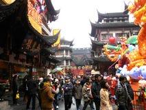 Gammal stad, Shanghai Royaltyfri Fotografi